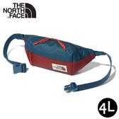 【The North Face 4L 腰包《藍紅》】3KY6/側背包/隨行包/臀包/透氣/運動/跑步