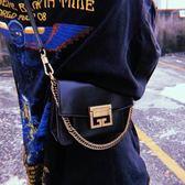 ■2018新品■專櫃7折 Givenchy 全新真品 Givenchy GV3 金色拋光金鎖雙肩帶小款兩用包