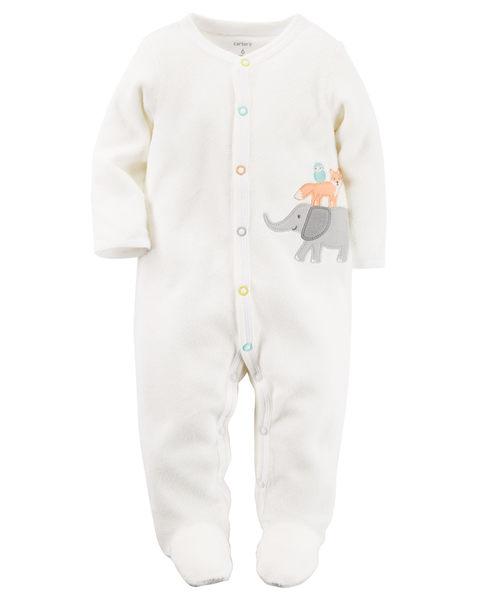 【美國Carter's】長袖包腳連身衣- 可愛動物家族系列 115G181