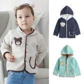 寶寶外套 保暖外套 空氣棉外套 連帽外套 動物刺繡外套Augelute 82060