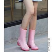 雨鞋雨靴女韓國可愛夏季時尚中筒水靴休閒套鞋防滑水鞋膠鞋成人雨靴 滿598元立享89折