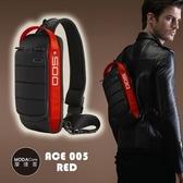 摩達客 韓國COOD GEAR-ACE005R時尚防潑水紅黑輕便側肩包