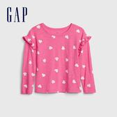 Gap女幼甜美風格印花圓領上衣519131-淺色粉