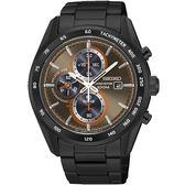 SEIKO Criteria 太陽能戰神計時腕錶-黑X咖啡
