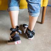 網襪 時尚緞面蝴蝶結短網襪(一盒兩雙) 短襪 漁網襪 短網襪 網襪 襪子 歐美 原宿