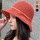 帽沿鏤空蝴蝶結漁夫帽(3色)【995185W】【現+預】-流行前線-