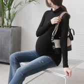 高彈莫代爾秋冬高領孕婦長袖打底衫短款T恤上衣新款秋裝女