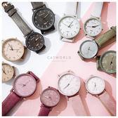 Catworld 復古色質感壓紋情侶對錶手錶【18002787】‧F