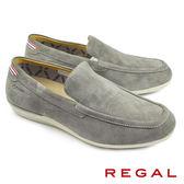 【REGAL】反絨皮樂福休閒便鞋 灰色(52FR-GRYS)