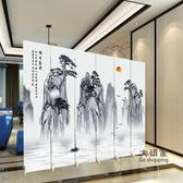 屏風 隔斷客廳辦公室折疊行動簡約現代新中式實木定定製酒店折屏T 3色