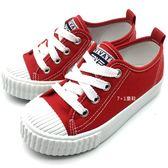 《7+1童鞋》PRIVATE 普萊米 拉鏈鞋帶款 經典款 休閒帆布鞋 餅乾鞋 E297 紅色