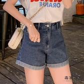 牛仔短褲女韓版高腰熱褲顯瘦闊腿薄款寬松潮破洞【毒家貨源】