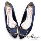 尖頭包鞋-Messa米莎 MIT迷人金屬...