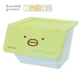 日本限定 SAN-X 角落生物  企鵝  掀蓋式 桌上收納盒 / 小物收納盒