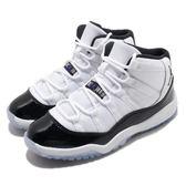 Nike Air Jordan 11 Retro PS Concord 白 黑 康扣 經典配色 XI 喬丹 童鞋 中童鞋【PUMP306】 378039-100