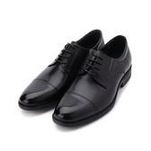 老船長 牛皮一字鬆緊紳士皮鞋 黑 男鞋