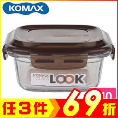韓國 KOMAX 巧克力方形強化玻璃保鮮盒440ml 59071【AE02251】99愛買生活百貨