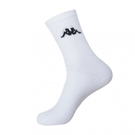 KAPPA 時尚型男休閒運動中筒襪~白 6雙