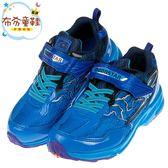 《布布童鞋》Moonstar日本3E寬楦爆裂閃電藍色兒童運動機能鞋(19~24公分) [ I8P615B ]