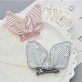 氣質珍珠條紋蝴蝶結髮夾 氣質 珍珠 條紋 蝴蝶結 髮夾