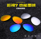 超輕可上翻偏光蛤蟆太陽眼鏡夾片 男女近視眼鏡夾片 司機駕駛防紫外線蛤蟆潮墨鏡 掛鏡