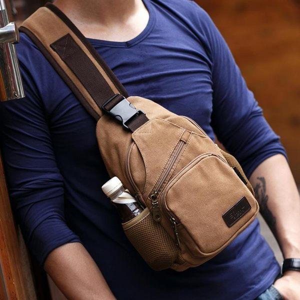 萬聖節快速出貨-韓版背包運動掛包休閒戶外單肩包男包包斜跨小包帆布