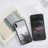 椰树玻璃壳6s 苹果x 手机壳XS Max XR iPhoneX 8plus 7p 女款i