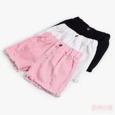 女童短褲外穿夏季薄款小女孩牛仔褲純棉童裝兒童褲子夏裝白色熱褲 中秋降價