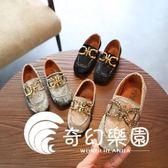 新款兒童鞋子韓版女童公主鞋水鉆絨面中大童皮鞋潮-奇幻樂園