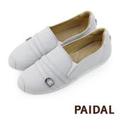 Paidal 繞帶灰色平底樂福鞋懶人鞋