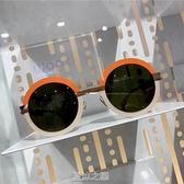 超火的兒童太陽鏡圓框墨鏡小朋友男童女童潮新款防紫外線寶寶