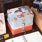 帶鎖收納鐵盒Z小清新桌面收納整理儲物盒 創意鐵盒 密碼盒Q 伊衫風尚
