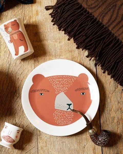 Donna Wilson Bear紳士熊骨瓷盤 餐盤 21cm