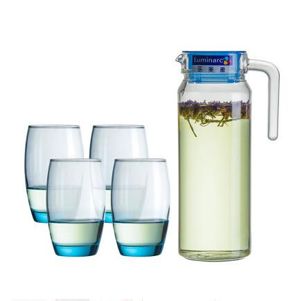 凝海冰藍玻璃水杯耐熱涼水壺冷水壺玻璃杯套裝水壺水杯套裝