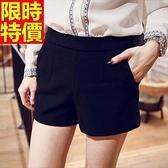 西裝短褲非凡甜美-背後珍珠拉鏈設計提臀女褲子66ai28【巴黎精品】