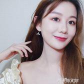 林佳海豚魚尾耳釘女氣質韓國個性百搭珍珠耳環純銀耳飾 解憂雜貨鋪