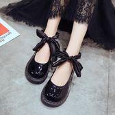 復古原宿小皮鞋女學生韓版百搭學院娃娃鞋