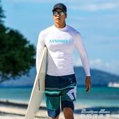(快出) 潛水衣 韓國版潛水服情侶男大碼水母衣浮潛服分體防曬成人長袖套裝游泳衣