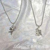 超仙冷淡風祈禱天使丘比特寶寶鎖骨鍊短款項鍊女艾美時尚衣櫥