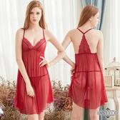 情趣 角色服 睡衣 內衣 ★大尺碼Annabery酒紅愛戀柔紗美背二件式性感睡衣★紅色┌NY18020038