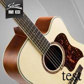 吉它吉他吉他星臣民謠41寸木吉它入門初學者學生新手練習男女jita樂器XW