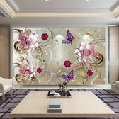 5D立體電視背景墻8D簡約現代客廳影視墻紙墻布裝飾壁畫沙發壁紙3d