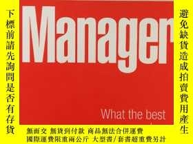 二手書博民逛書店大32開英文原版Brilliant罕見manager :wha