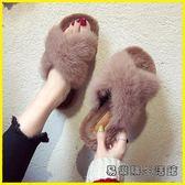 毛毛鞋 毛毛鞋 交換禮物 毛毛拖鞋女夏外穿秋季孕婦涼拖