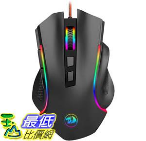 [9美國直購] Redragon 滑鼠 M602 RGB Wired Gaming Mouse RGB Spectrum Backlit Ergonomic Mouse Griffin Programmable