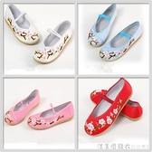 繡花鞋漢服鞋子古風夏季軟底舒適老北京布鞋男女古裝搭配鞋子平底 美眉新品