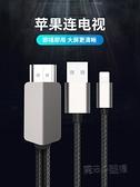 蘋果手機連接電視同屏線連接線轉換器lightning轉hdmi線高清線投屏線 618促銷