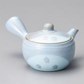 日本陶壺【美濃燒】白梅切立 橫手急須0.35L 泡茶壺