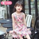 2018新款童裝女童夏季女孩洋裝兒童裙子碎花純棉薄女寶寶公主裙   年終大促