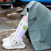 3雙裝日系長筒堆堆襪小花襪中筒襪女小腿襪中長襪【小酒窩服飾】